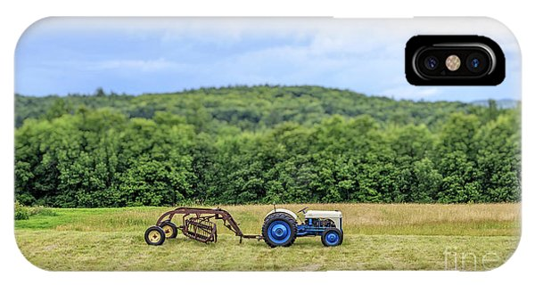 Etna iPhone Case - Vintage Ford Tractor Tilt Shift by Edward Fielding