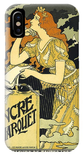 Vintage French Advertising Art Nouveau Encre L'marquet IPhone Case