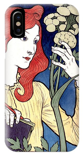 Vintage French Advertising Art Nouveau Salon Des Cent IPhone Case