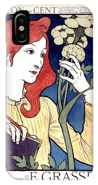 Vintage French Advertising Art Nouveau Salon Des Cent IPhone Case