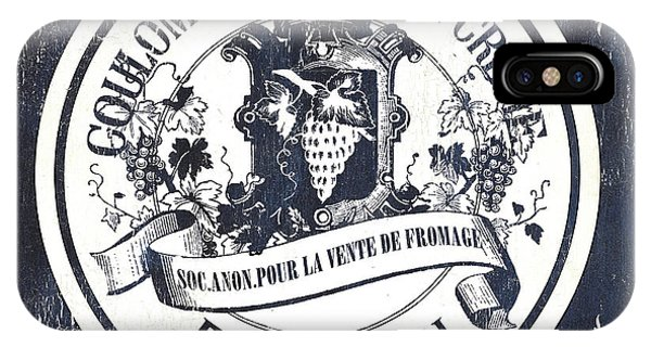 Vintage French Cheese Label 2 IPhone Case