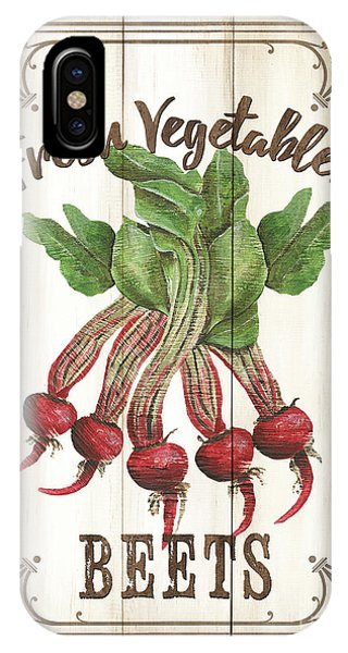 Fresh iPhone Case - Vintage Fresh Vegetables 1 by Debbie DeWitt