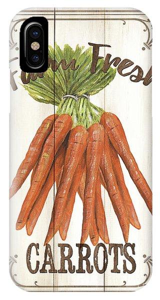 Fresh iPhone Case - Vintage Fresh Vegetables 3 by Debbie DeWitt