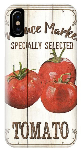 Tomato iPhone Case - Vintage Fresh Vegetables 4 by Debbie DeWitt