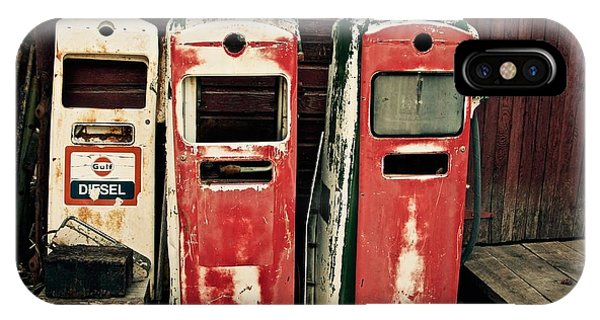Vintage Gas Pumps IPhone Case