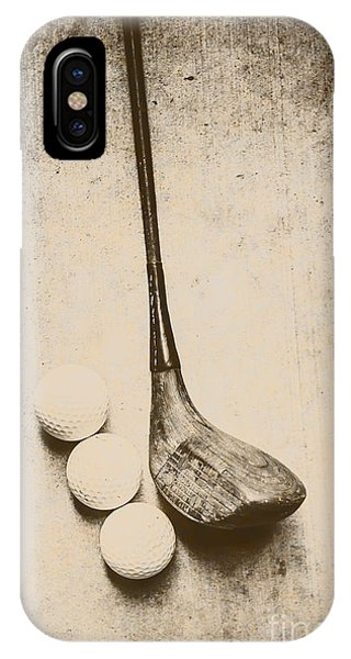 Golf Ball iPhone Case - Vintage Golf Artwork by Jorgo Photography - Wall Art Gallery
