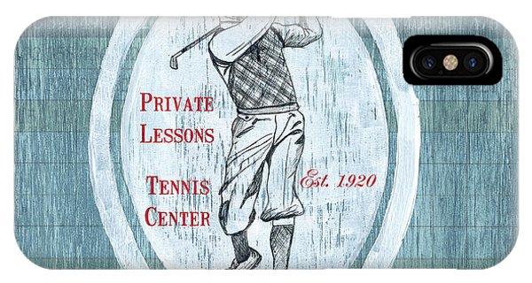 Golf iPhone Case - Vintage Golf Blue 2 by Debbie DeWitt