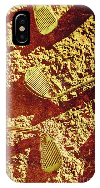 Cement iPhone Case - Vintage Golf Irons by Jorgo Photography - Wall Art Gallery