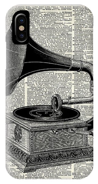 Vintage iPhone Case - Vintage Gramophone by Anna W