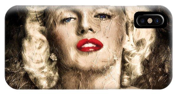 Vintage Grunge Goddess Marilyn Monroe  IPhone Case