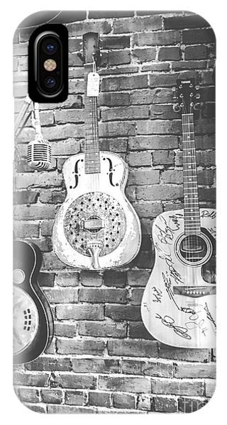 Vintage Guitar Trio In Black And White IPhone Case