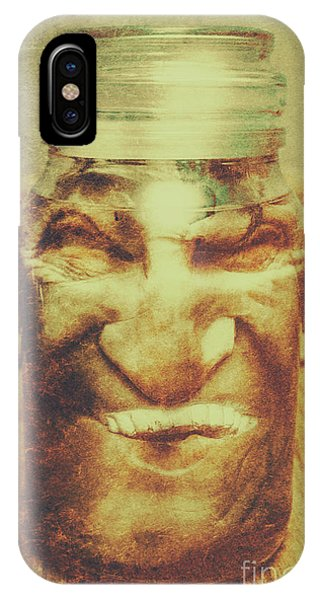 Container iPhone Case - Vintage Halloween Horror Jar by Jorgo Photography - Wall Art Gallery