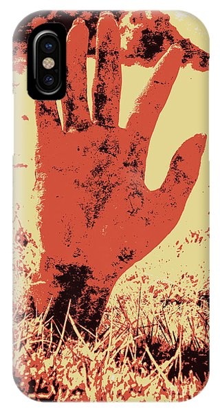 Reach iPhone Case - Vintage Horror Poster Art  by Jorgo Photography - Wall Art Gallery