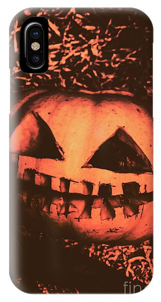 Old Fashioned iPhone Case - Vintage Horror Pumpkin Head by Jorgo Photography - Wall Art Gallery
