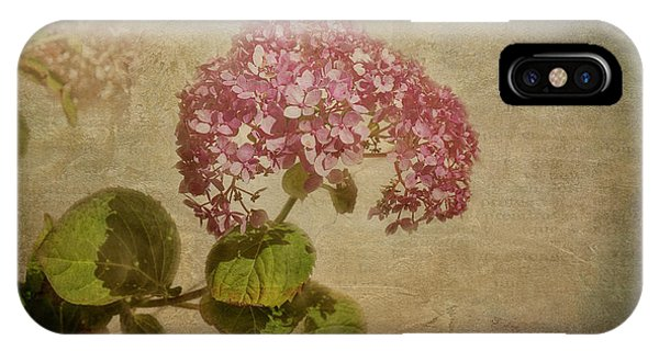 IPhone Case featuring the photograph Vintage Hydrangea by Elaine Teague