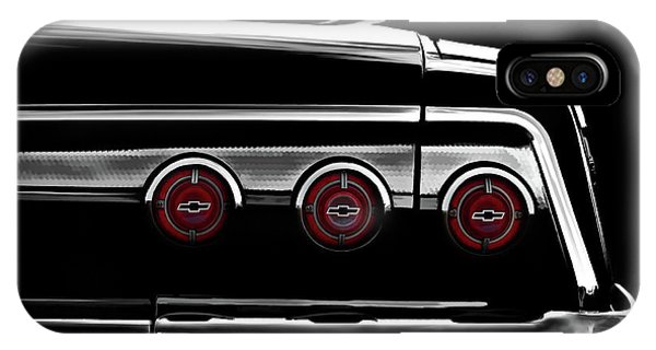 Chevrolet iPhone Case - Vintage Impala Black And White by Douglas Pittman