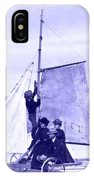 Vintage Ladies And Gentlemen Sail On The Desert Queen IPhone Case