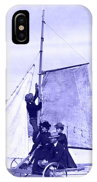 Vintage Ladies And Gentlemen Sail On The Desert Queen IPhone Case