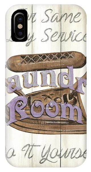 Lavender iPhone Case - Vintage Laundry Room 1 by Debbie DeWitt