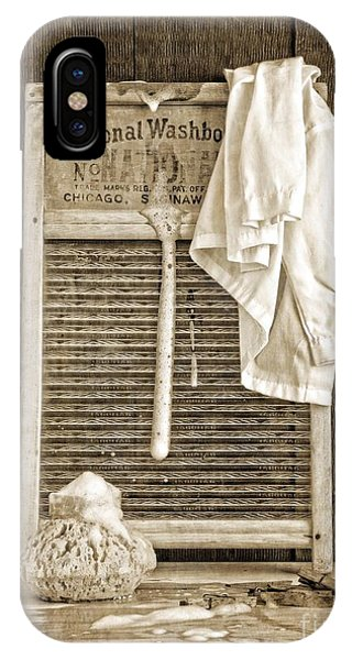 Vintage iPhone Case - Vintage Laundry Room by Edward Fielding