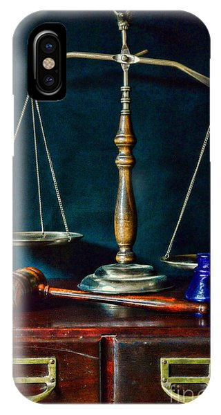 Vintage Lawyer Scales Of Justice IPhone Case