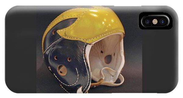 Vintage Leather Wolverine Helmet IPhone Case