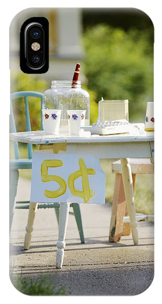 Beverage iPhone Case - Vintage Lemonade Stand 5 Lettering by Gillham Studios
