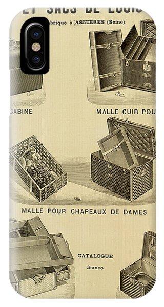 Vintage Louis Vuitton Advertisement - 1898 IPhone Case