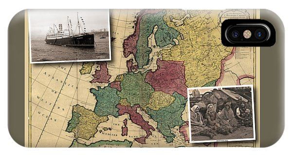 Vintage Map Europe Immigrants IPhone Case