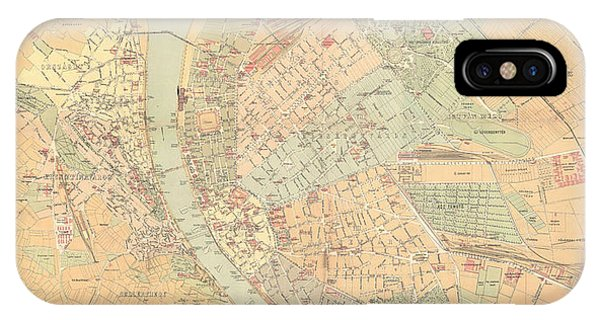 Budapest Map IPhone Cases Fine Art America - Vintage budapest map