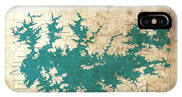 Vintage Map - Sidney Lanier Ga IPhone Case