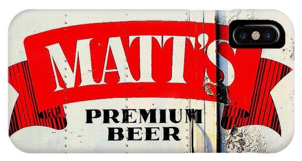 Vintage Matt's Premium Beer Sign IPhone Case