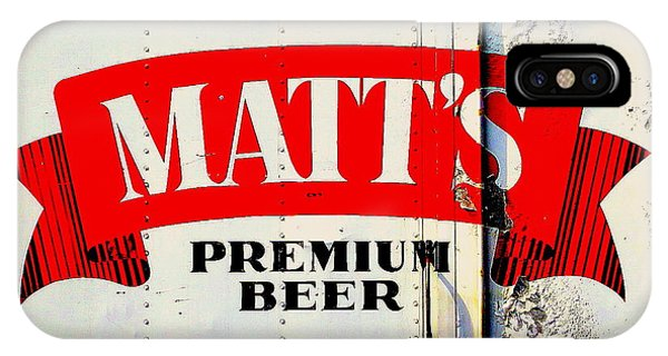 Vintage Matt's Premium Beer Sign IPhone Case