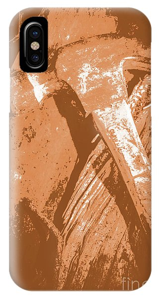 Industry iPhone Case - Vintage Miners Hammer Artwork by Jorgo Photography - Wall Art Gallery