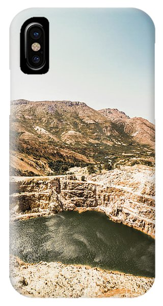 Open iPhone Case - Vintage Mining Pit by Jorgo Photography - Wall Art Gallery