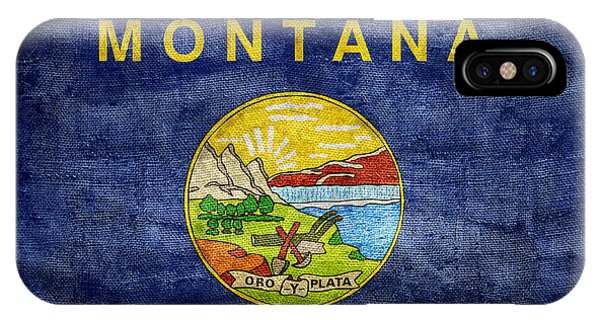 Vintage Montana Flag IPhone Case