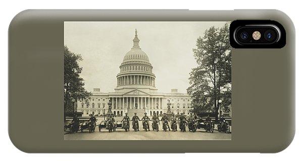 Vintage Motorcycle Police - Washington Dc  IPhone Case