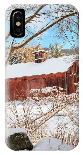 New England Barn iPhone Case - Vintage New England Barn Portrait by Bill Wakeley