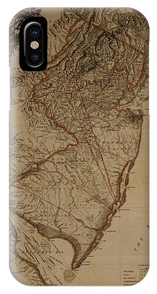 Vintage New Jersey Map IPhone Case