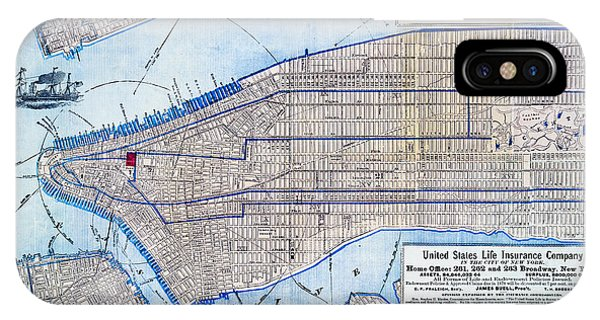 Vintage New York Map IPhone Case