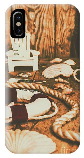 Beach Chair iPhone Case - Vintage Ocean Porthole by Jorgo Photography - Wall Art Gallery