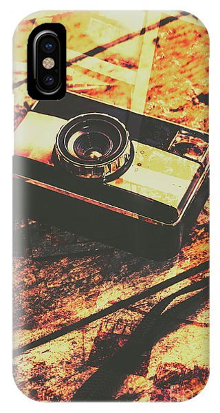 Camera iPhone Case - Vintage Old-fashioned Film Camera by Jorgo Photography - Wall Art Gallery