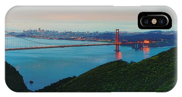 Vintage Panorama Of The Golden Gate Bridge From The Marin Headlands - San Francisco California IPhone Case