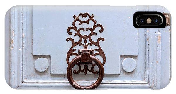 IPhone Case featuring the photograph Vintage Paris Door Knocker by Melanie Alexandra Price