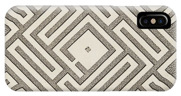 Repeat iPhone Case - Vintage Parterr Plan by Andre Mollet