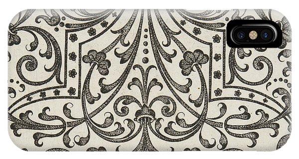 Repeat iPhone Case - Vintage Parterre Design by Jacques Mollet