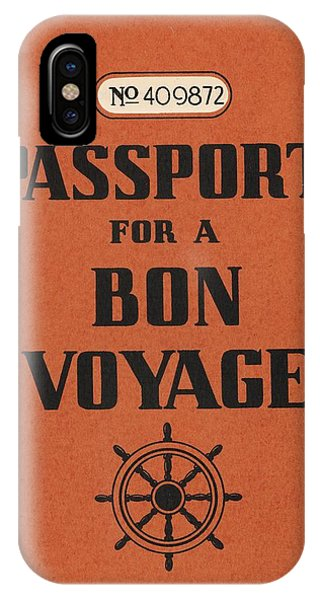 Travel iPhone Case - Vintage Passport by Gillham Studios