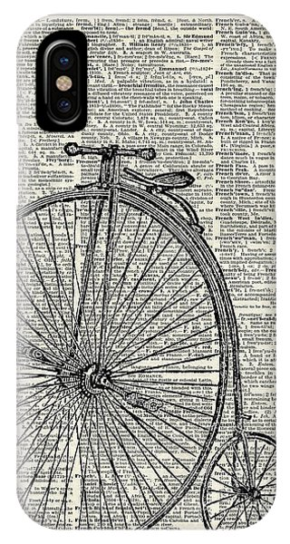 Bike iPhone Case - Vintage Penny Farthing Bicycle by Anna W