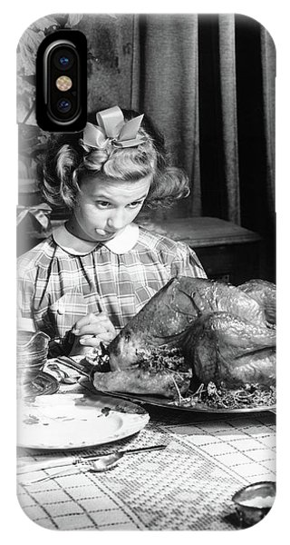 Vintage Photo Depicting Thanksgiving Dinner IPhone Case