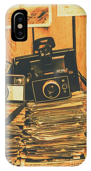 Wood Floor iPhone Case - Vintage Photography Stack by Jorgo Photography - Wall Art Gallery